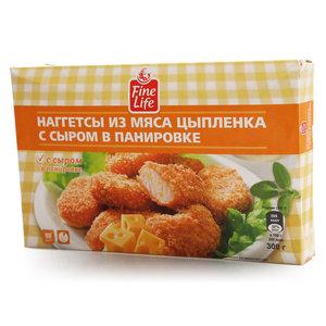 Наггетсы из мяса цыпленка с сыром в панировке ТМ Fine Life (Файн Лайф)