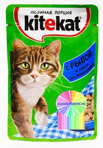 Корм для взрослых кошек с рыбой в соусе ТМ Kitekat (Китекат)