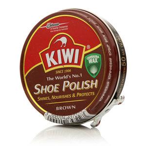Крем для обуви коричневый ТМ Kiwi (Киви)