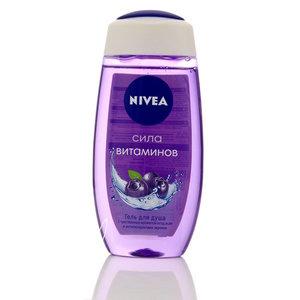 Гель для душа Сила витаминов ТМ Nivea (Нивея) с чувственным ароматом ягод асаи и антиоксидантами черники