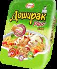 Лапша быстрого приготовления со вкусом курицы и майонезным соусом ТМ Doshirak Plus (Доширак Плюс)