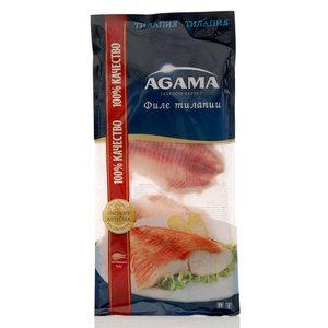 Тилапия филе без кожи замороженое ТМ Agama (Агама)