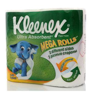 Бумажные полотенца ультра сорбент мега рулоны ТМ Kleenex (Клинекс)