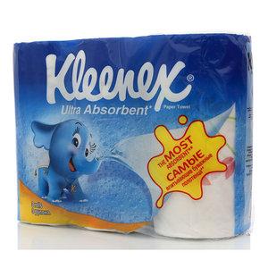 Полотенца бумажные двухслойные ТМ Kleenex (Клинекс), 3 рулона