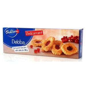 Бисквитные лодочки с красной смородиной Deloba ТМ Bahlsen (Балзен)