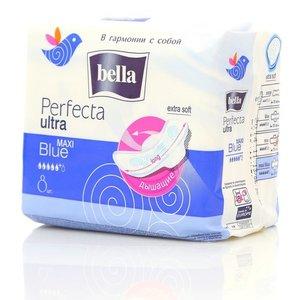 Прокладки супертонкие женские Perfecta ultra Maxi Blue (Перфекта ультра макси блу) ТМ Bella (Белла), 8 шт.