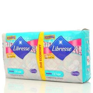 Прокладки ультратонкие 3 мм женские Invisible Super (Инвизибл супер) ТМ Libresse (Либресс), 16 шт.