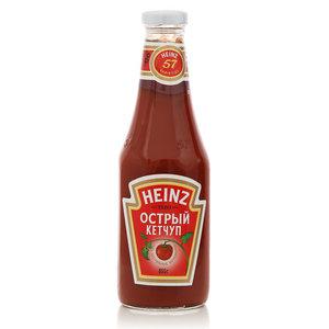 Кетчуп острый в стеклянной таре ТМ Heinz (Хайнц)
