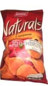 Чипсы картофельные Naturals с паприкой ТМ Lorenz (Лоренц)