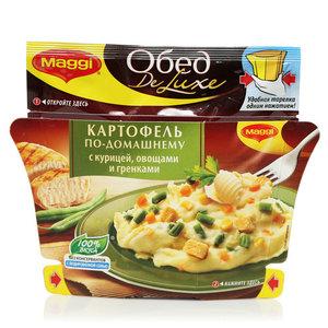Картофельное пюре с курицей, овощами и гренками ТМ Maggi (Магги)