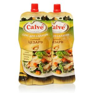 Соус для салата сырный цезарь ТМ Calve (Кальве), 2*230г, на основе растительных масел