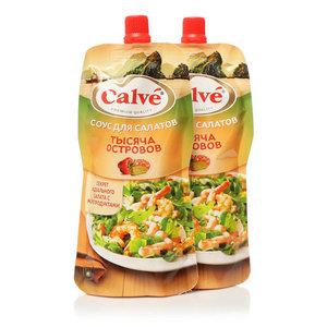 Соус для салата тысяча островов ТМ Calve (Кальве), 2*230г, на основе растительных масел