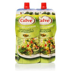 Соус для салата укропный с огурчиками ТМ Calve (Кальве), 2*230г, на основе растительных масел