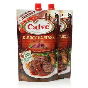 Кетчуп к мясу на углях ТМ Calve (Кальве), 2*350г