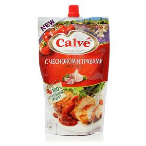Кетчуп с чесноком и травами ТМ Calve (Кальве)
