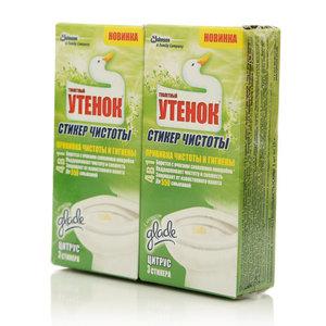 Средство для очистки унитиза Стикер чистоты ТМ Туалетный утенок, 2*3 шт.