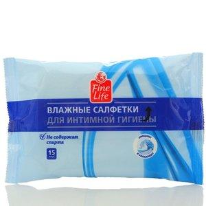 Влажные салфетки для интимной гигиены ТМ Fine Life (Файн Лайф) 15 шт.