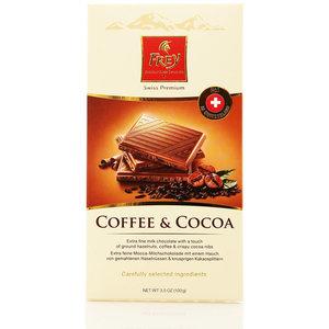 Шоколад молочный Мокко с хрустящей крошкой какао ТМ Frey (Фрей)