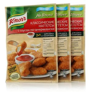 Сухая смесь для классических наггетсов с соусом по-американски, 3*49г ТМ Knorr (Кнорр) На Второе
