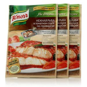 Сухая смесь для нежной рыбы в томатном соусе по-провански, 3*23г, На Второе ТМ Knorr (Кнорр)