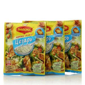 Смесь сухая для заправки салата с сухариками Цезарь, 3*30г, ТМ Maggi (Магги) Корона салата