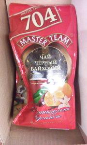 Чай черный байховый с ароматом бергамота и ванили ТМ Master Team (Мастер Тим) 704 Настоящий