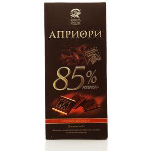 Горький шоколад Априори 85% какао ТМ Верность качеству
