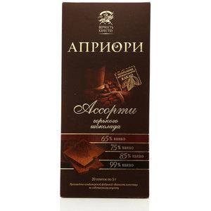 Горький шоколад Априори ассорти горьких сортов шоколада ТМ Верность качеству