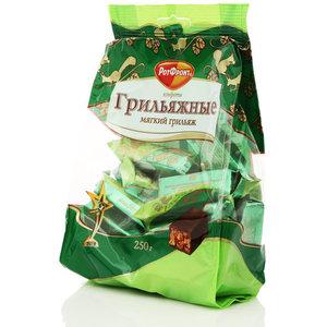 Конфеты глазированные шоколадной глазурью мягкий грильяж ТМ Ротфронт