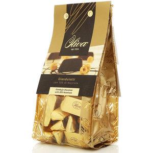 Шоколадные конфеты из темного шоколада с орехово-кремовой начинкой ТМ Oliva (Олива)