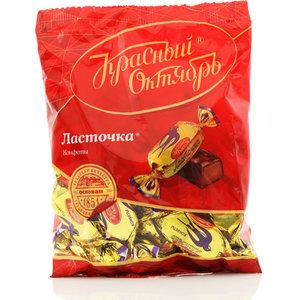Конфеты глазированные шоколадной глазурью с помадным корпусом ласточка ТМ Красный Октябрь