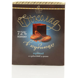 Шоколад горький в кубиках 72% какао ТМ O'Zera (О'Зера)
