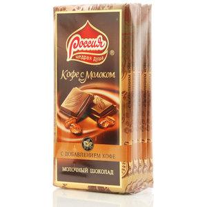 Шоколад молочный Кофе с молоком 5*90г ТМ Россия