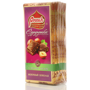 Шоколад молочный с фундуком Сударушка 5*90г ТМ Россия