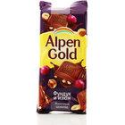 Шоколад молочный с фундуком и изюмом ТМ Alpen Gold (Альпен Гольд)