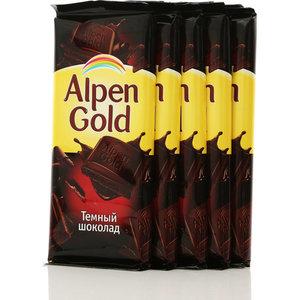 Шоколад темный 5*90г ТМ Alpen Gold (Альпен Гольд)