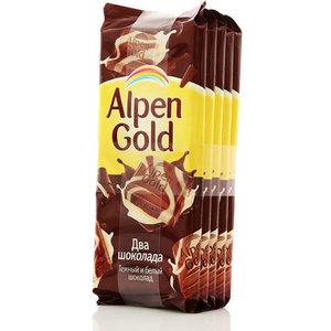 Шоколад из темного и белого шоколада 5*90г ТМ Alpen Gold (Альпен Гольд)