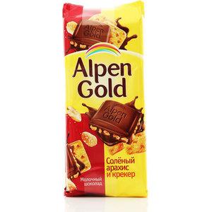 Шоколад молочный с соленым арахисом и крекером ТМ Alpen Gold (Альпен Гольд)