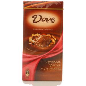 Шоколад молочный с грецким орехом и грильяжем тм Dove (Дав)