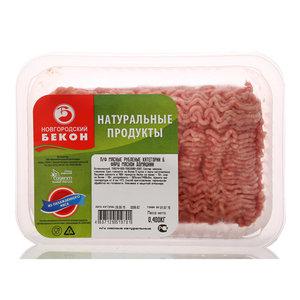 Фарш из свинины и говядины Домашний ТМ Новгородский Бекон