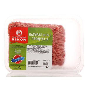 Фарш мясной говяжий ТМ Новгородский Бекон