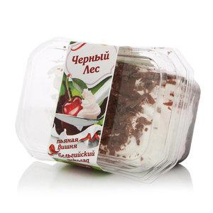 Пирожное черный лес, пьяная вишня, бельгийский шоколад ТМ Кристоф фабрика десертов