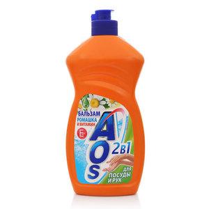 Бальзам для мытья посуды Ромашка и Витамин Е ТМ AOS (АОС) для посуды и рук