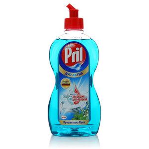 Средство для мытья посуды ТМ Pril (Прил) Дуо Актив свежие травы и мята