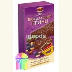 Торт Шоколадный принц шоколадный с орехами и изюмом ТМ Пекарь