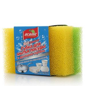 Губки для мытья посуды с функцией скребка ТМ Acamic (Акамик)