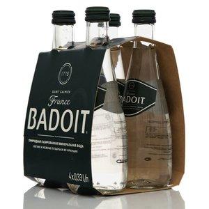 Минеральная природная питьевая лечебно-столовая вода газированная ТМ Badoit (Бадуа), 4*330мл