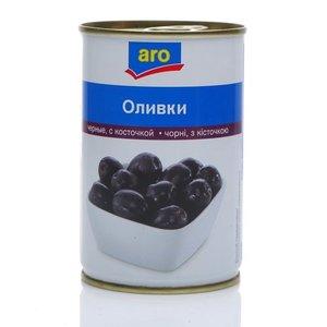 Оливки черные с косточкой ТМ Aro (Аро)