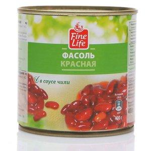 Фасоль красная в соусе чили консервированная ТМ Fine Life (Файн Лайф)