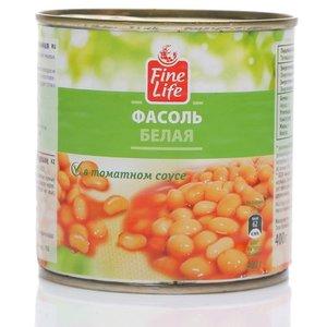 Фасоль белая в томатном соусе ТМ Fine Life (Файн Лайф)